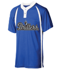 DRILLERS - Custom Heat Pressed Youth Baseball Jersey 2  Button / 2 Color - NB4229 B5B01F31510D