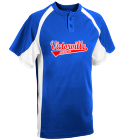 vvall minor b rangers - Custom Heat Pressed Youth Line Drive 2-Button Baseball Jersey - 1200P 2222A3704710