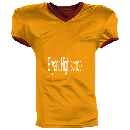 BRYANT HIGH SCHOOL - Custom Heat Pressed Reversible Football Jersey Adult - 1357 S 0403BE1717A5A a72245195