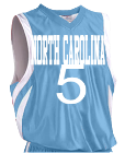 North Carolina-5 - Custom Heat Pressed Youth Basketball Jersey - Reversible Downtown - Teamwork Athletic - 1409 C2EF3FE95340