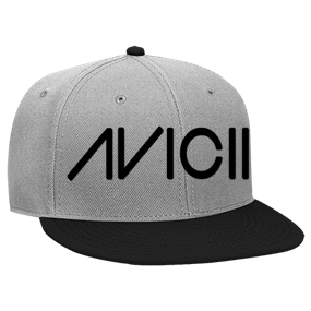 af26680a1 Avicii SnapBack Hat gray and black - Custom Heat Pressed Snapback Flat Bill  Hat - 125-978