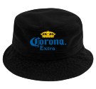 black corona bucket hat  - Custom Heat Pressed Short Brim Custom Bucket Hats - 961 EC6DC5BDD05D