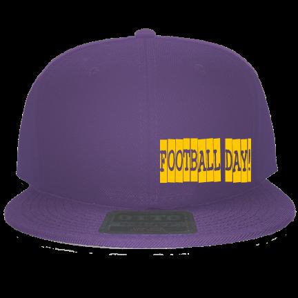 Football Day! - Custom Heat Pressed Snapback Flat Bill Hat - 125-978  8AF293ED5CFF 5aecc9d63b7