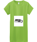 Tri-City Seahawks - Custom Heat Pressed Womens Junior Shirts & Tees Gildan® Ladies SoftStyle™ Cotton T-Shirt 2344A645E54D
