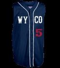 WYCO-BLUE Youth Customized Sleeveless Wheel House Jersey
