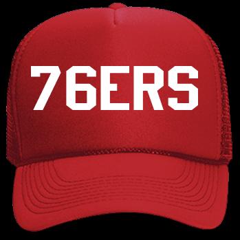 PHILADELPHIA -76ERS-76ers - Custom Screen Printed Neon Trucker Hat  741001a83ad