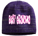 Best Grandma - Custom Heat Pressed Heathered Beanie - District Threads DT620 088FBA000D21