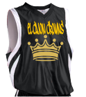 El Cajon Crowns-Hicks-13 - Custom Screen Printed Youth Basketball Jersey - Reversible Downtown - Teamwork Athletic - 1409 E4167C8EB710