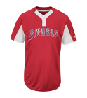 Big A-60 - Custom Heat Pressed Custom Angels Two-Button Jersey -  Angels-MAI383 C61A5E5381D4