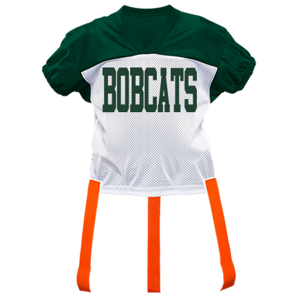 best sneakers 7b2cf 4ae96 BOBCATS-10 - Custom Heat Pressed Adult Official Flag Football Jersey - 1358