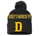D-Dickey's Barbecue Pit-Eagan, MN - Custom Heat Pressed Pom Pom Knit Beanie - SP15 9DBC84CB13F4