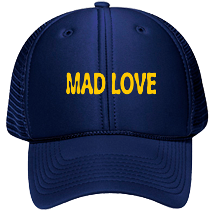 a13a9b0411c56 MAD LOVE - Custom Embroidered Low Pro Trucker Style Otto Cap 83-470  37A5A02175A5