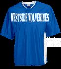 WESTSIDE-WOLVERINES marble Adult Colorblock Raglan Shooting T Shirt