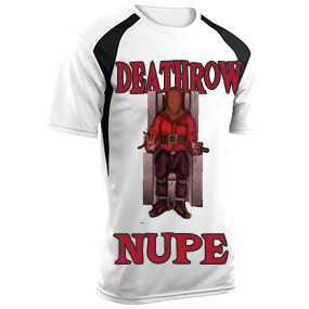 ACHIEVER-Deathrow -NUPE-NINETEEN -11 - Custom Heat Pressed Adult Baseball  Tee Torrent Tech - 1023