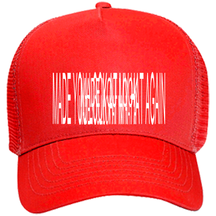MADE YOU LOOK AT MY HAT AGAIN - Custom Heat Pressed Otto Trucker Hat 32-565  3FDE3DFFACE8 f9578c671f7