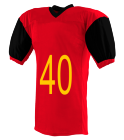 40-WILSON-40 - Custom Heat Pressed Adult Red Zone Football Jersey  - 9540 1F0D8305A620