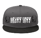 HEAVY LEVY - Custom Heat Pressed Snap Back Flat Bill Hat - 125-1038 1EA044FE55C9
