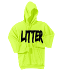 LITTER BUGS US - Custom Heat Pressed Neon Hoodie Port & Company -PC90H 4607DD24A244