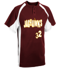 JAGHAWKS - Custom Screen Printed Youth Line Drive 2-Button Baseball Jersey - 1200P 0CB17D017351