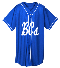 Blue-Crushers- Youth Full Button Wicking Mesh Jersey