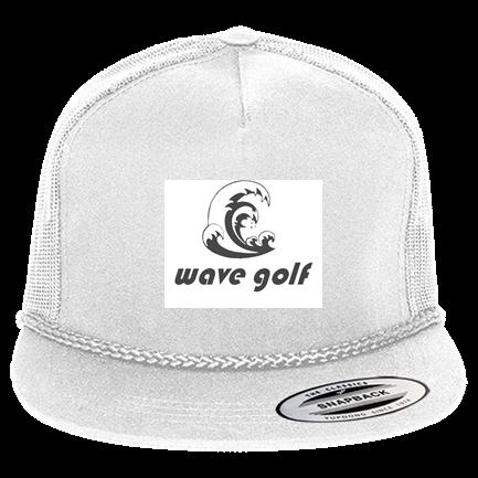 Wave Golf Hat - Custom Screen Printed Classic Poplin Golf Mesh Trucker Hat  - 6003 D95D636415C5 ee825539e734