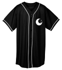 Darkside - Custom Heat Pressed Adult Full Button Wicking Mesh Jersey  - 593 717309EFB608