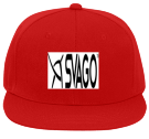 svago - Custom Embroidered Flat Bill Fitted Hats 123-969 8AF101DCC896