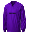 UNDEPLEASUREDMERCH-QUARTER-LS-PURPLE Adult V-Neck Raglan Wind Shirt