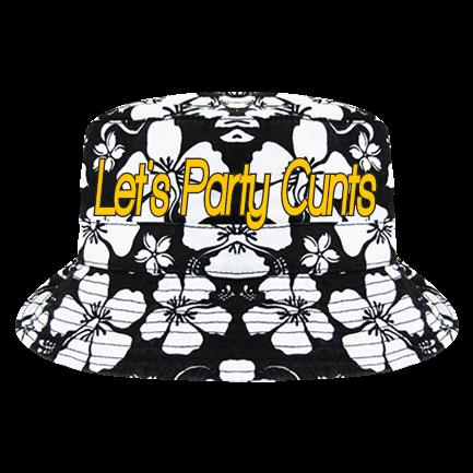 667cf3eb97298 Let s Party Cunts - Custom Embroidered Floral Custom Bucket Hats - 455  1EEBADBE5AA3