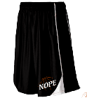 NOPE - Custom Heat Pressed Dazzle Youth Basketball Game Short-Augusta-747 768F91825164