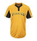 MARSH-0 - Custom Heat Pressed Custom Pirates Two-Button Jersey - Pirates-MAI383 1B4BDC6D18B6