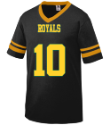 ROYALS-12 - Custom Screen Printed Old School Youth Football Fan Jersey  - Augusta 361 E36C7BC6C4B9