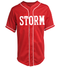 STORM - Custom Screen Printed Teamwork Athletic Full Button Baseball Jersey - 1860B 7E36BF5A7CE7