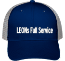 LEONs Full Service - Custom Embroidered Low Pro Trucker Style Otto Cap 83-474 FA473637BBE4