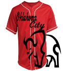 OKC Bison - Custom Heat Pressed Teamwork Athletic Full Button Baseball Jersey - 1860B 850438BC5077