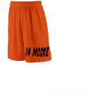 14 Moore-14 Moore  - Custom Heat Pressed Extra Long Youth Basketball Shorts-849 9705E2597001