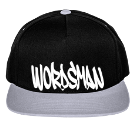 Wordsman - Custom Heat Pressed Two Color Cotton Snapback  - 6007T AE6F9D6D237F