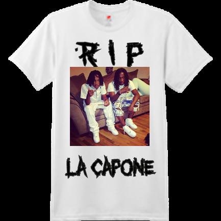 492ff90fb RIP LA CAPONE - Custom Heat Pressed Custom Screen Printed Hanes T-Shirt -  4980 S 20D7274363FDA
