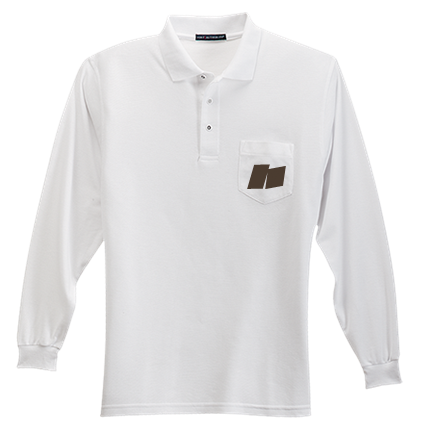19d32610 JF - Custom Embroidered Adult Silk Long Sleeve Polo Shirt With Pocket -  K500LSP 9FE57BD47F33