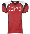 Dealerweb-00-Hundo P - Custom Heat Pressed Youth Red Zone Steelmesh Football Jersey - 1365 EDFF376298FF
