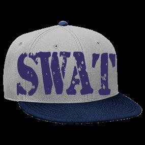 ab8e0190ab5 Swat - Custom Heat Pressed Snapback Flat Bill Hat - 125-978 7B0D8EB62C5C
