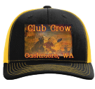 Club Crow - Custom Heat Pressed Cotton Twill Mesh Snapback - 112 4E686BDA4518