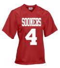 SOONERS4SHIPMAN4 DISCONTINUED Youth Overtime Football Jersey - 1362