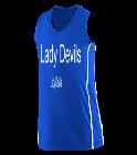 Lady-Devils Girls Racerback V-Neck Jersey