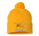 SAVE OUR DOGS-stop puppy mills-stop puppy mills-stop puppy mills - Custom Embroidered Pom Pom Knit Beanie - SP15 E5ED57CF4961