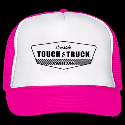 pacifica-pink - Custom Screen Printed Trucker Hat 39-169 12A4BE36A08A 3d0401ecb3f