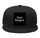 Viet - Saigon - Custom Heat Pressed Snap Back Flat Bill Hat - 125-1038 51F89F447F20