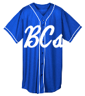 BLUE-CRUSHERS Youth Full Button Wicking Mesh Jersey