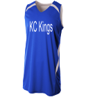 KC-Kings13 Hornet Green Youth Double Double Reversible Jersey