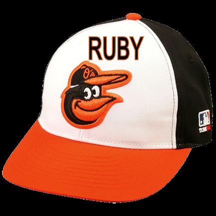 RUBY-KEPNER - Custom Heat Pressed Baltimore Orioles - Official MLB Hat for  Little Kids Leagues